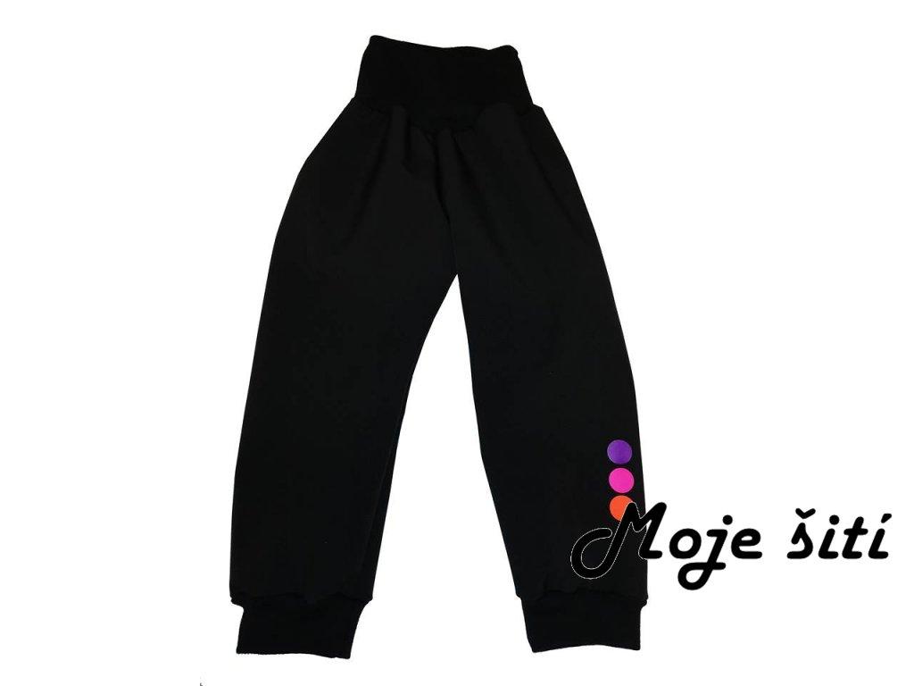 zimní softshellove kalhoty fialoforůžové puntíky2