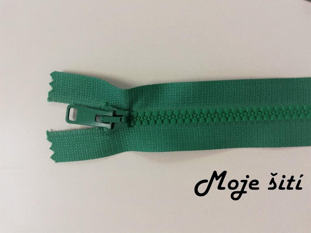 smaragdově zelený zip