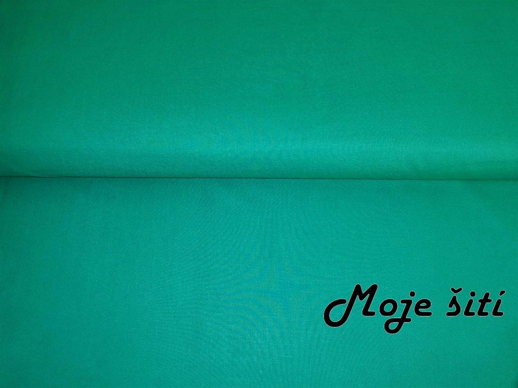 Bavlněné plátno Zelená mořská
