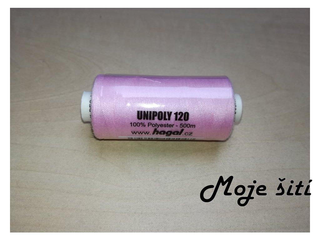 Unipoly 120 - 500m Světle růžová 330