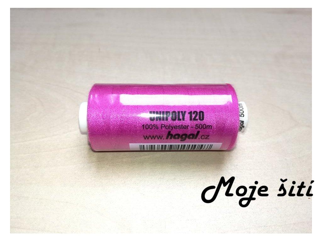 Unipoly 120 - 500m Růžovofialová 434