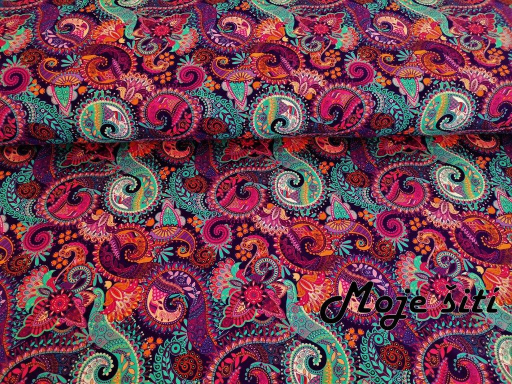 Paisley fialový