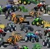 traktory bagry 25x25cm