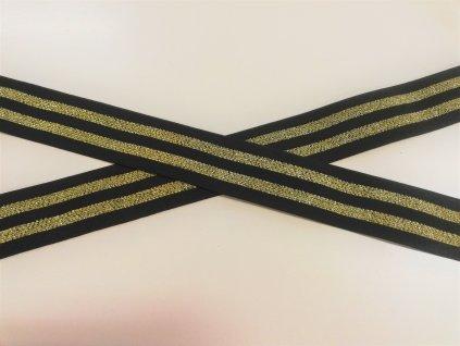 pruženka černá se zlatými proužky (2)