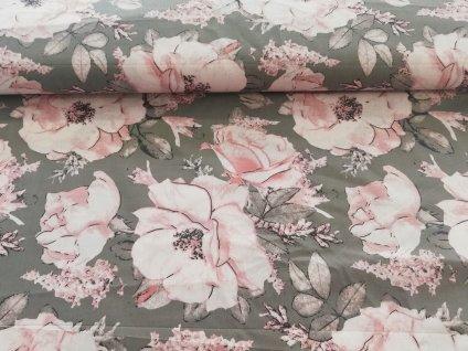 plátno květy šípkové růže (2)