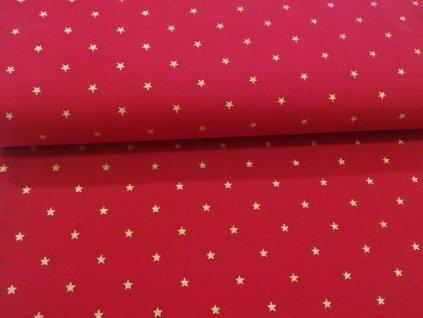 úplet zlaté hvězdičky na červené (2)