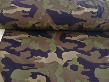 zimní softshell khaki maskáč (2)