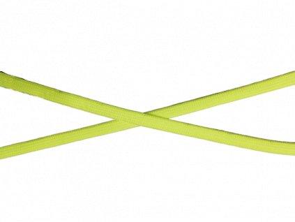 plochá šnůra 10mm neon žlutá