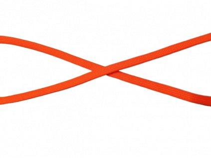 plochá šnůra 10mm neon oranžová