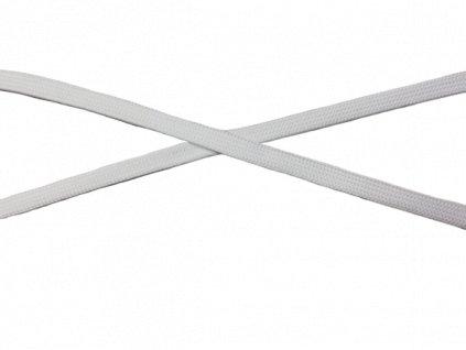 plochá šnůra 10mm bílá