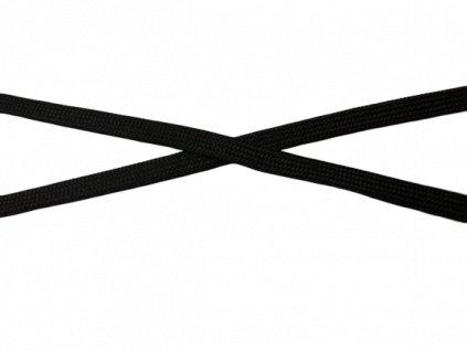 plochá šnůra 10mm černá