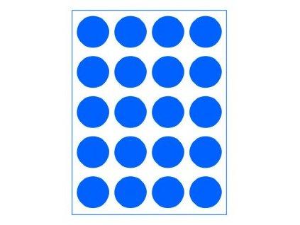 puntiky neon modré