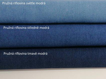 pružný jeans středně modrý (2)