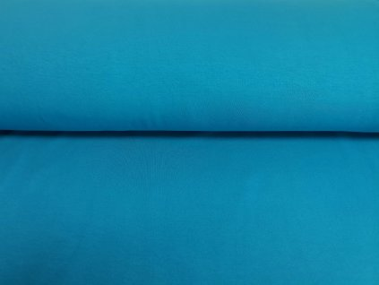 Teplákovina s elastanem 290g/m2 TYRKYSOVÁ K