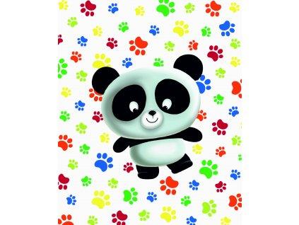 panda a tlapky 40x50