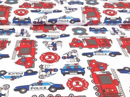 bavlnene platno policie a hasici