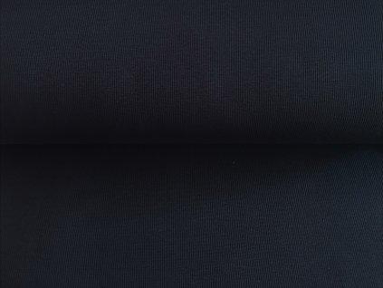 Bavlněný náplet s elastanem TMAVĚ MODRÝ K - žebro
