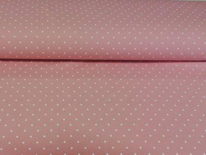 teplákovina puntíky na starorůžové (2)