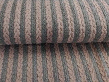 starorůžové&šedý melánž