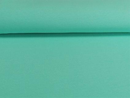 teplakovina s elastanem zeleny mentol