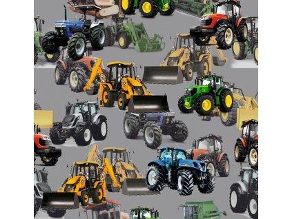traktory a bagry na sede softshell