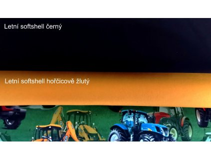 traktory a bagry na trave softshell