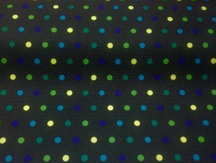 neon zelené puntíky