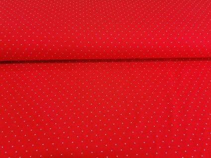 uplet s elastanem drobne puntiky na cervene