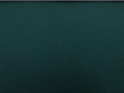 Teplákovina s elastanem Tmavě zelená K