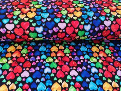teplákovina barevná srdíčka (1)