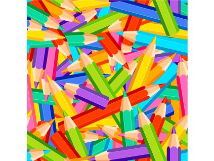 pastelky barvy 15x15cm