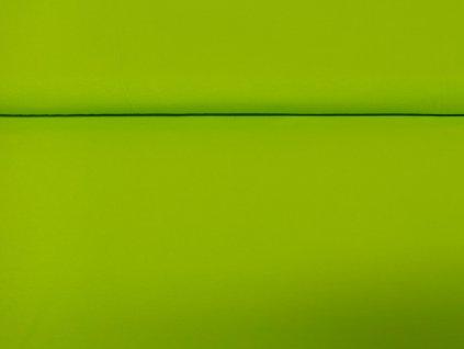 Bavlněný úplet s elastanem Neon zelený 200g/m2