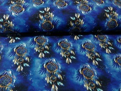 teplákovina Lapače snů na modré (2)
