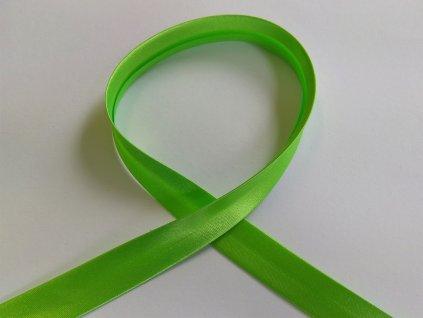sikmy prouzek satenovy 18 mm zeleny hrasek