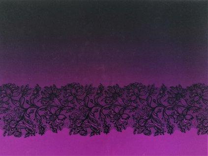 panel fialova krajka