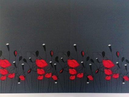 panel na sukni makove kvety