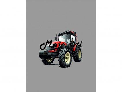 traktor cerveny panel