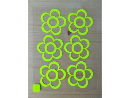 Neonove nazehlovaci obrazky kyticky II zlute