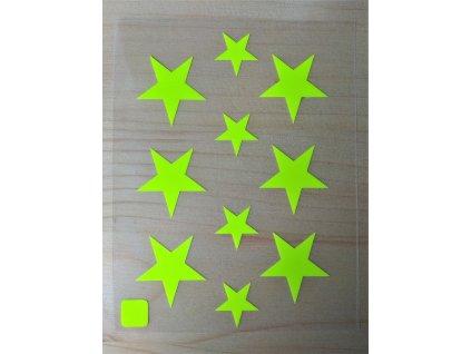 Neonove nazehlovaci obrazky hvezdicky zlute