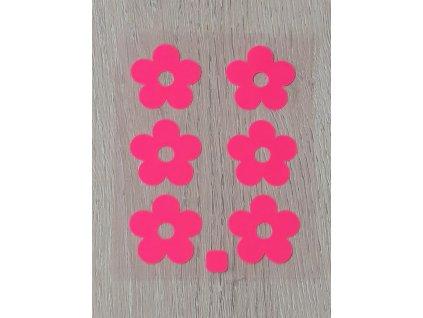 Nažehlovací neon obrázky - růžové kytičky