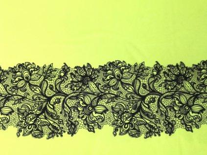 Panel na sukni Krajka na neon žluté - sportovní úplet