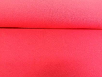 Teplákovina s elastanem Korálová červená