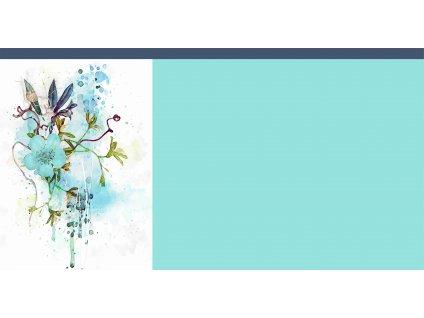 mintový květ 55x75