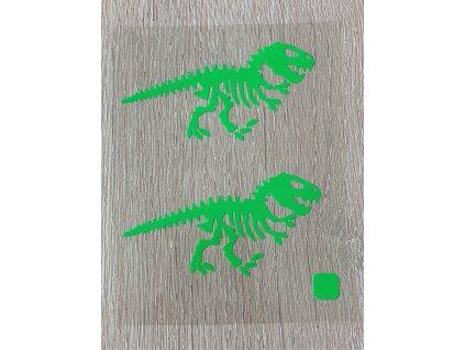 neon zeleni dinosauri
