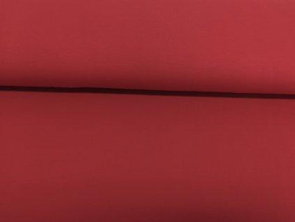 Bavlněný úplet s elastanem Matně červený