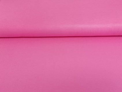 Viskózový úplet s elastanem Růžový žvýkačkový