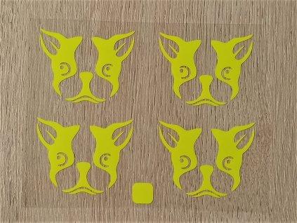 Neon žlutý buldoček