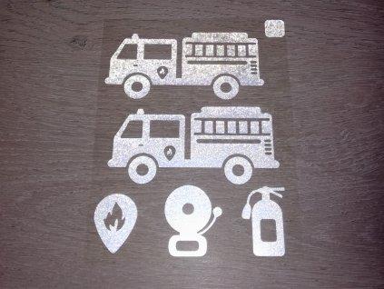 Nažehlovací reflexní obrázky- hasičská vozidla
