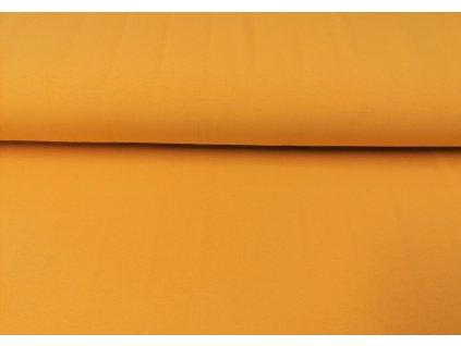 Bavlněný úplet s elastanem Okrový K 200g/m2
