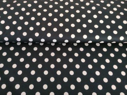LETNÍ PRUŽNÝ softshell Bílé puntíky na černé